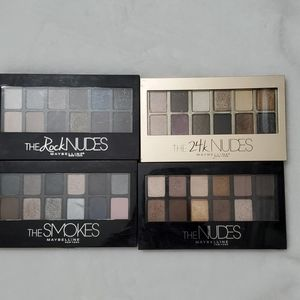 Maybelline eyeshadow pallet bundle